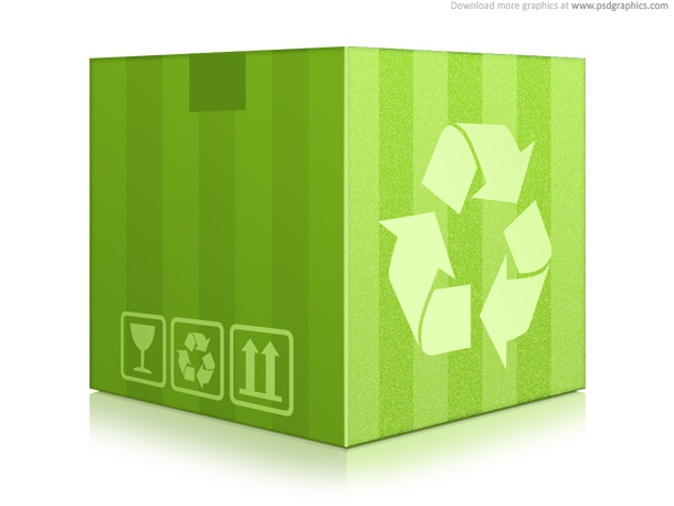 Link toGreen recycling box (psd)