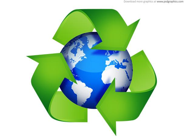 Link toGreen recycling symbols psd