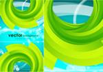 Link toGreen ring blue background vector