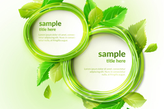 Green, round leaves framework background vector map