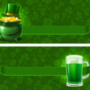Link toGreen saint patrick day background vector 01 free
