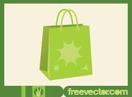 Link toGreen shopping bag vector free