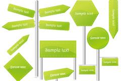 Link toGreen signage design vector