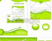 Link toGreen simple vi enterprise template vector