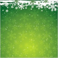 Link toGreen snowflake the christmas theme vector background material
