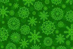 Link toGreen snowflakes seamless background pattern vector