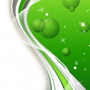 Link toGreen sphere and abstract shiny background vector free