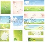 Link toGreen spring banner vector