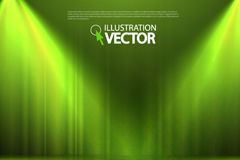 Link toGreen stage with spotlight background vector