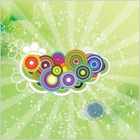 Link toGreen swirly flowers vector