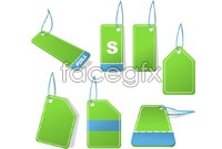 Link toGreen tags hanging card vector