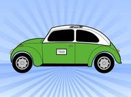 Link toGreen taxi vector free