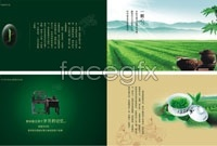 Link toGreen tea chinese style brochure template vector