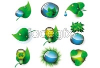 Link toGreen tech green vector icons