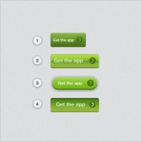 Link toGreen texture button psd layered