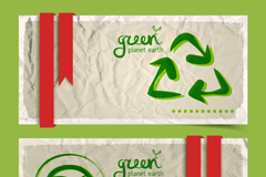 Link toGreen theme banner design vector