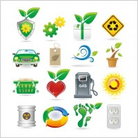 Link toGreen theme vector icons