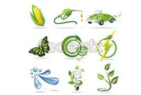 Green themes design vector