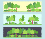 Link toGreen tree banner vector