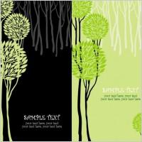 Link toGreen tree illustration series 01 vector