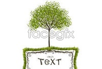 Link toGreen tree vector illustration