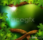 Green tree vines vector