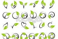Link toGreen vine pattern vector