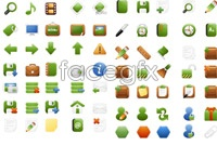 Link toGreen web icons vector pack