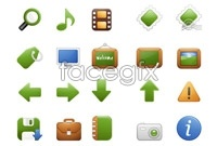 Link toGreen web page icon vector