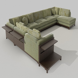 Link toGreen whole cloth art sofa combination 3d models