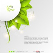 Link toGreen world creative eco background vector 01 free