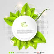 Link toGreen world creative eco background vector 02 free