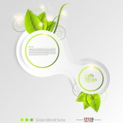 Link toGreen world creative eco background vector 04 free