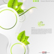 Link toGreen world creative eco background vector 05 free