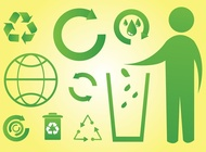 Green world icons vector free