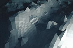 Grey 3d origami background vector