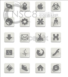 Link toGrey apple desktop icons