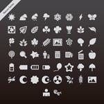 Link toGrey natural icons vector
