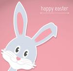 Link toGrey rabbit sticker cards vector