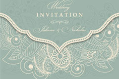 Link toGrey retro patterns party invitation card vector