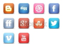 Grid social networking company logo icon