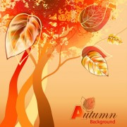 Link toGrunge background autumn style vector 01 free