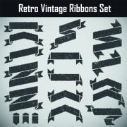 Link toGrunge black ribbon vector set free