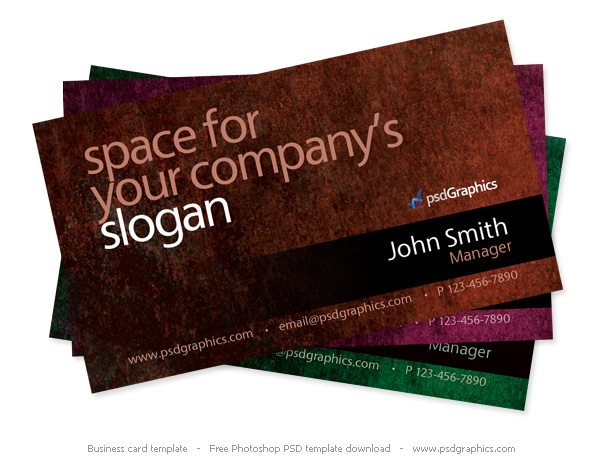 Link toGrunge business card photoshop template psd