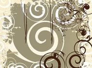 Link toGrunge floral backdrop vector free