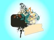 Link toGrunge floral design vector free