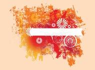 Link toGrunge floral layout vector free