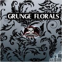 Grunge floral shapes