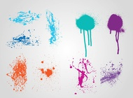 Link toGrunge paint layouts vector free