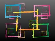 Link toGrunge rectangles vector free